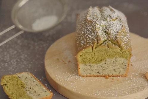 Japanese Matcha Sesame Pound Cake