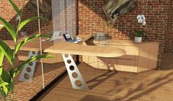 Stand-UP Cantilevered Desk