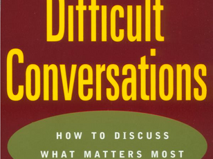 "Book Recommendation:  ""Difficult Conversations"""
