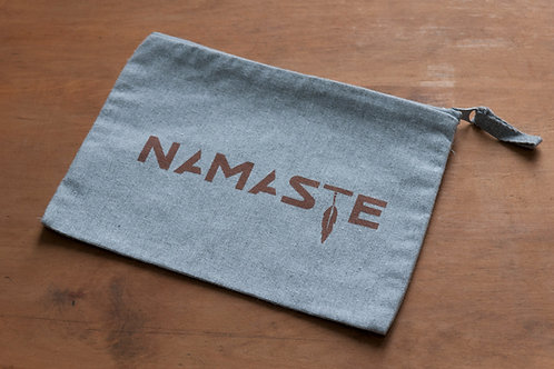 NAMASTE pencilcase/make-up bag heather grey