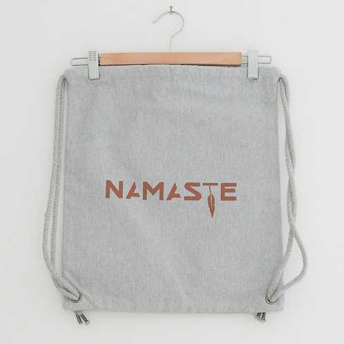 NAMASTE gymbag/bagpack heather grey coton