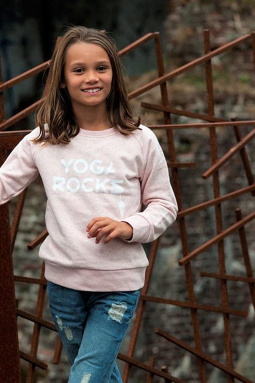 Yoga Rocks sweater pink kids