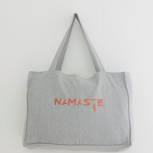 NAMASTE shopping/yogabag heather grey