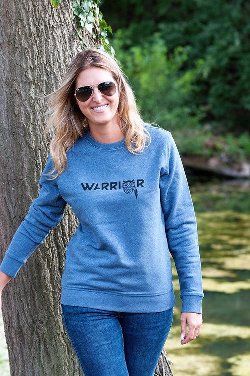 WARRIOR sweater unisex dark heather blue