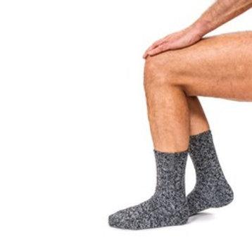 Wool sock men/unisex dark grey medium titanium label size 42-46