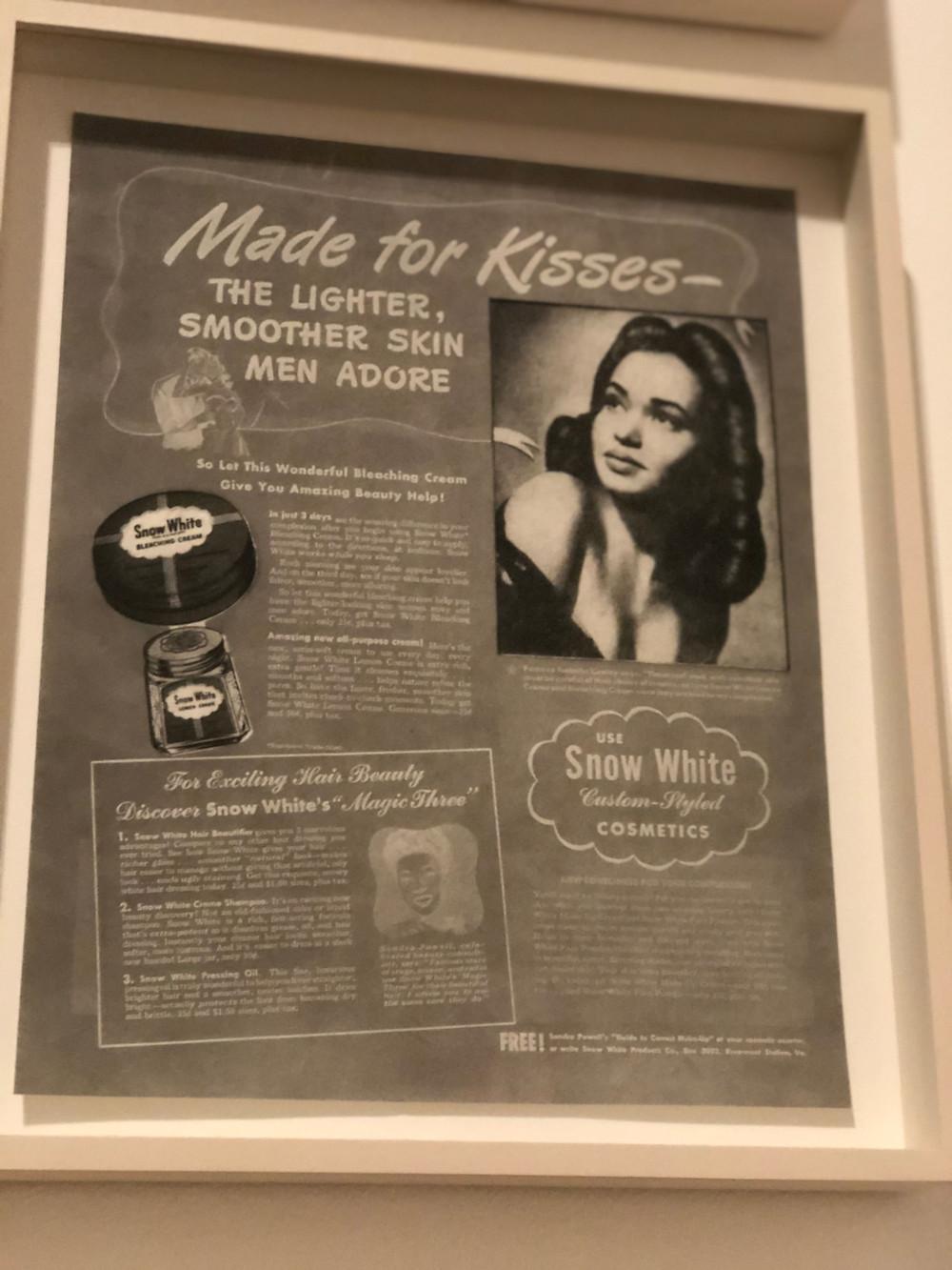 Skin bleach ad 1940