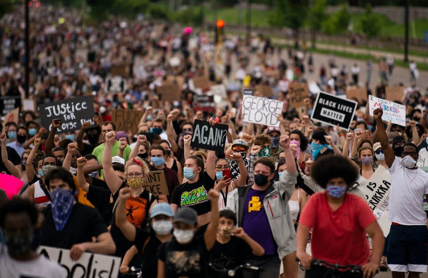 Minneapolis protesting George Floyd murder