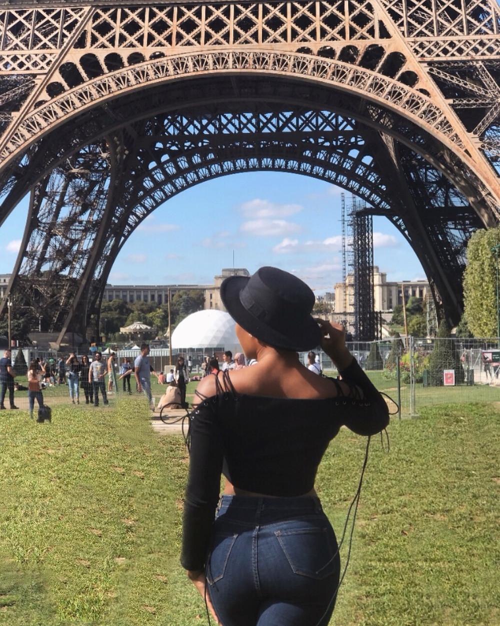 backview Eiffel Tower