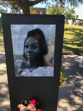 Dominique Fells 'Say Their Names' memorial