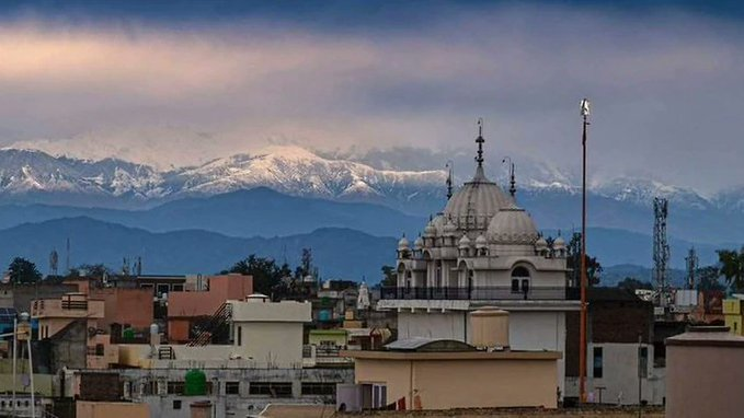 view of Himalayas in India 2020