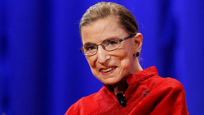smiling Justice Ruth Ginsburg