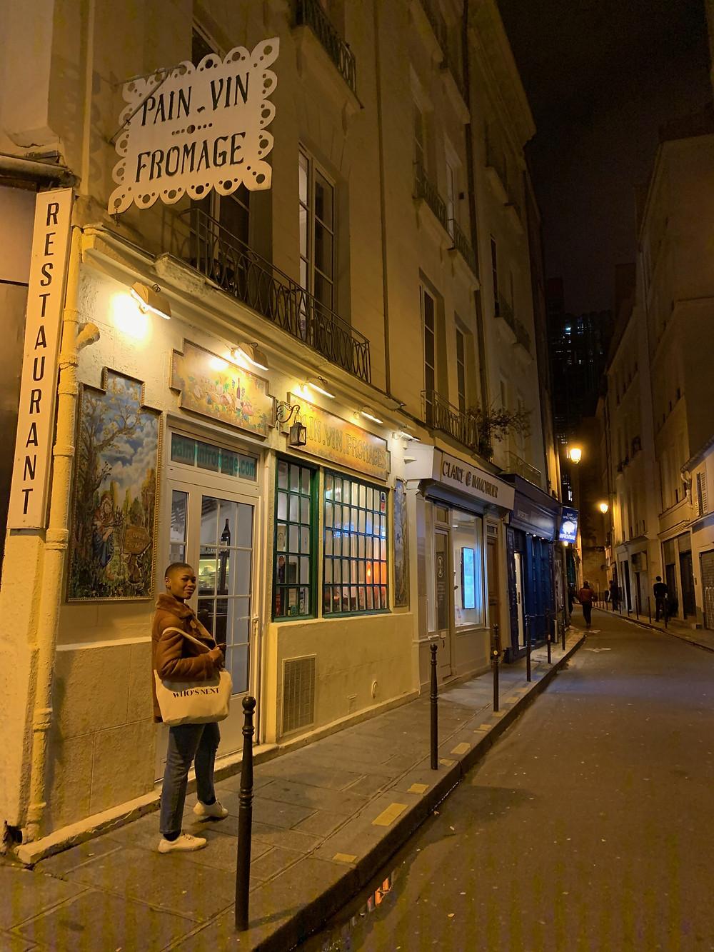 Pain Vin Fromage restaurant Paris