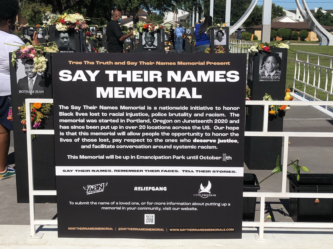'Say Their Names' Memorial