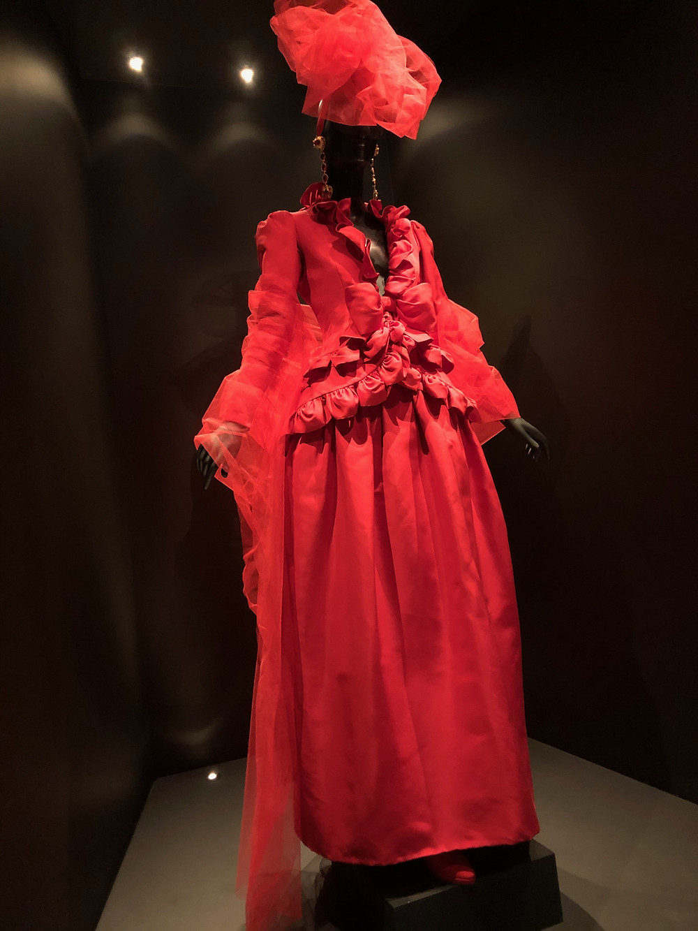 YSL red wedding dress