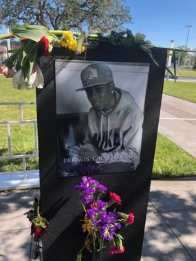 Deravis 'Caine' Rogers 'Say Their Names' memorial