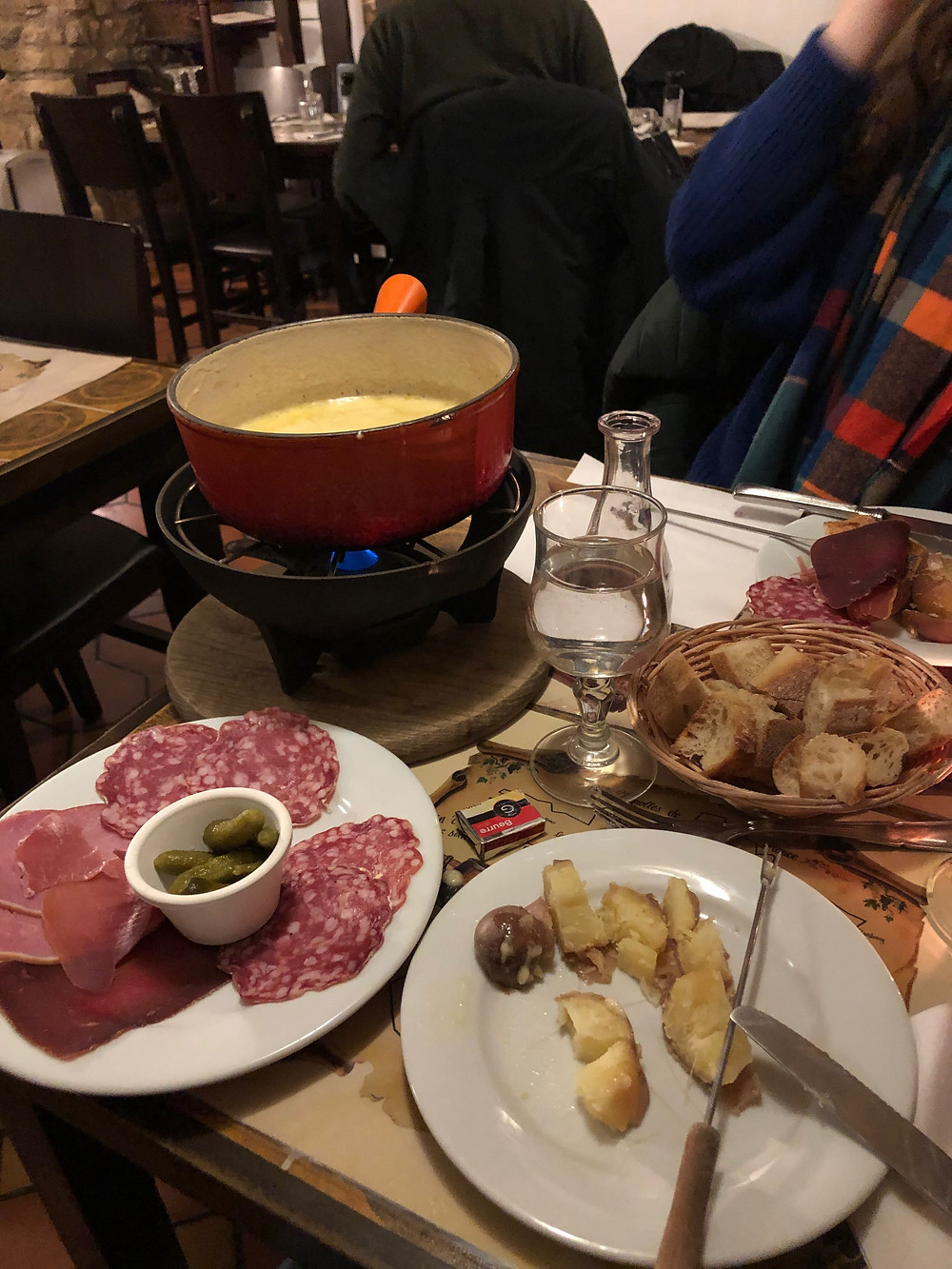fondue at Pain Vin Fromage