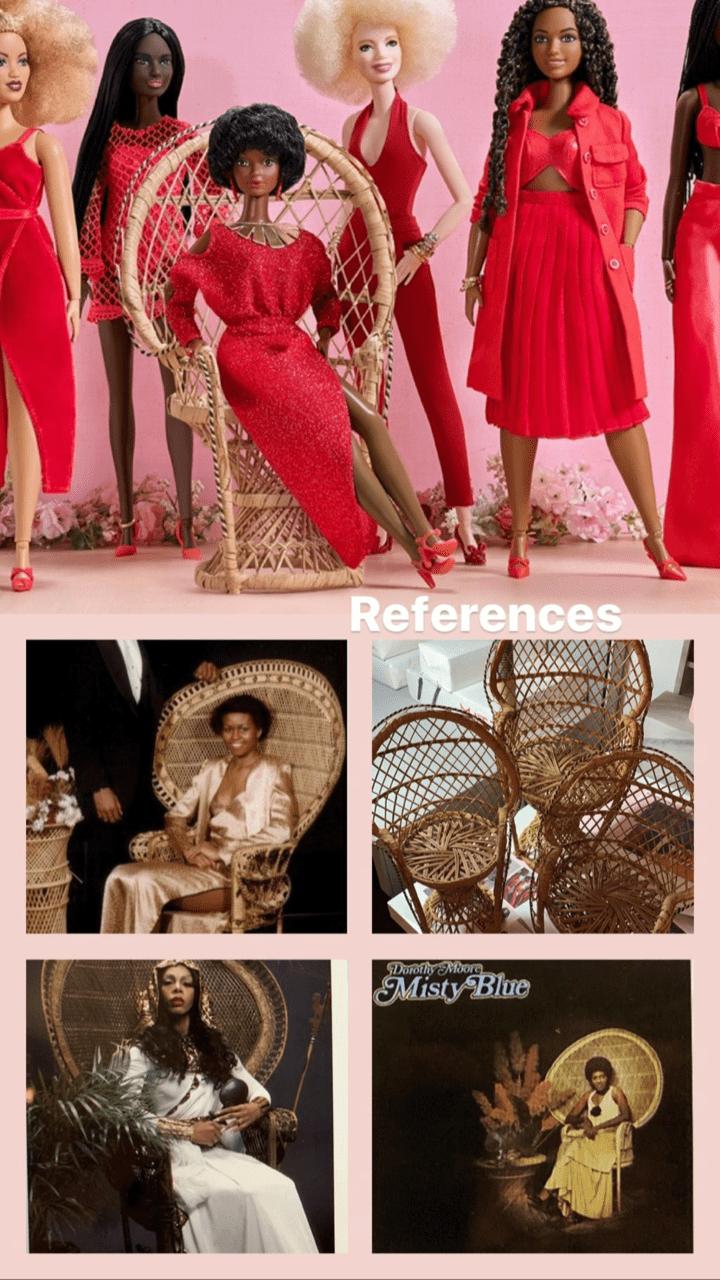 Barbie wicker chair reference Shiona Turini