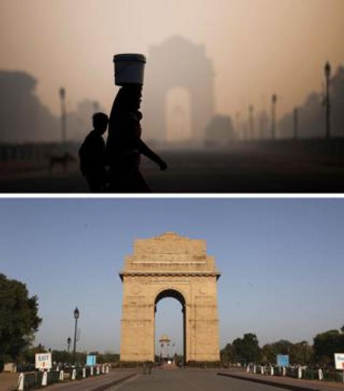 India's disappearing smog during quarantine 2020