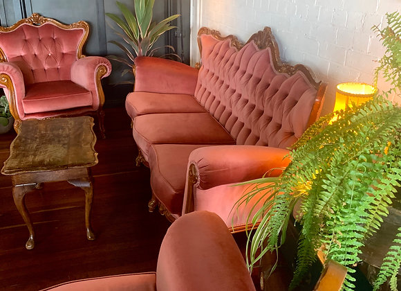Pink French Provincal Lounge and Arm Chairs