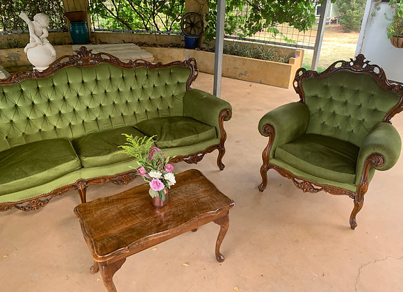 Forest Green Provincial Lounge Suite