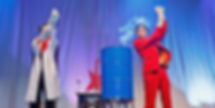 Bühnenfotografie Kabarettisten Marcus Weber und Beate Bohr - Physikanten & Co.