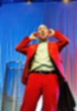 Kabarettist Marcus Weber beim Event für die 60 Jahre Aktivität der Firma Weber Shraubautomaten