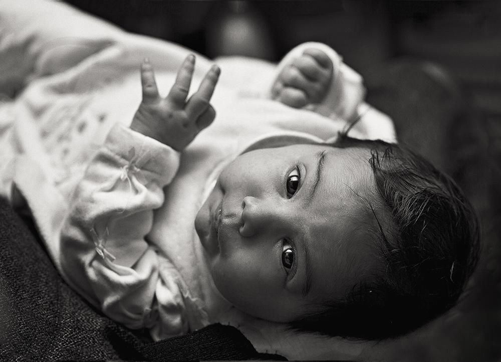 Babyfotografie Schwarzweiß 13