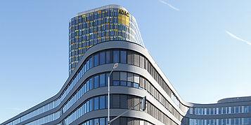 Architekturfoto der Fassade der ADAC Zentrale in München