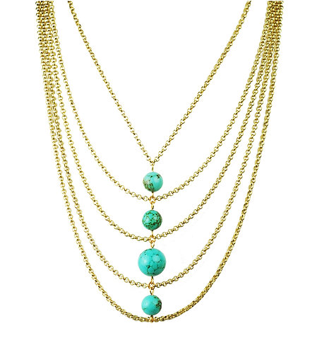 Turquoise Center Necklace