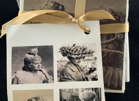 Tile Coasters - Crazy Vintage Strange Headgear