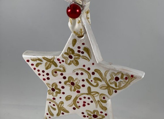 Holiday Shop - Red/Gold Star Ornament