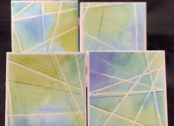 Tile Coasters - Geometric Tranquil