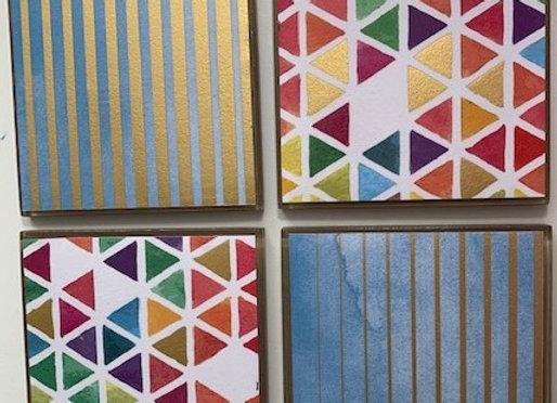 Tile Coasters - Geometric #2