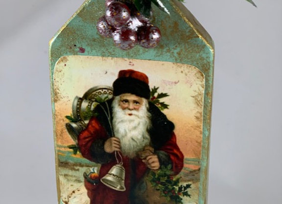 Holiday Shop - Santa w/Bell Ornament