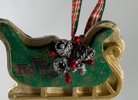 Holiday Shop - Ho Ho Ho Sleigh Ornament