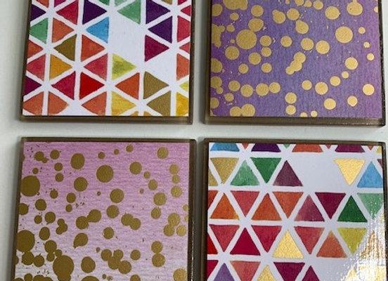 Tile Coasters - Geometric #1