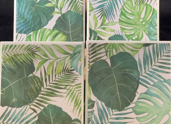 Tile Coasters - Tropical Leaves