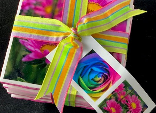 Tile Coasters - Pink Prism