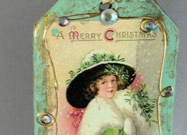 Holiday Shop - Merry Christmas Lady in Green