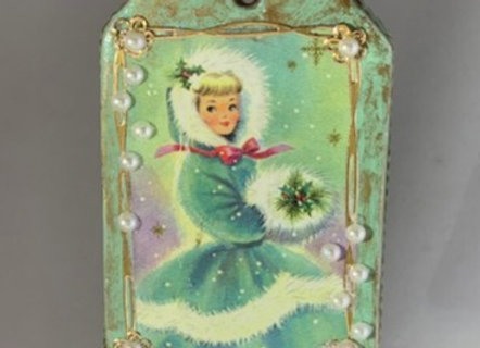 Holiday Shop - Ice Blue Lady / Snowflakes
