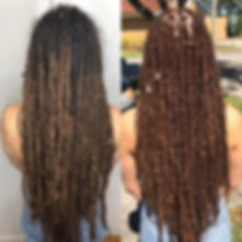 100% human hair goddess locs 1 year & 2