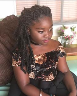 So adorable in her boho locs 😍😍 synthetic hair 💕#thebohobabe #thegoddesslocsgirl #goddesslocs #ta
