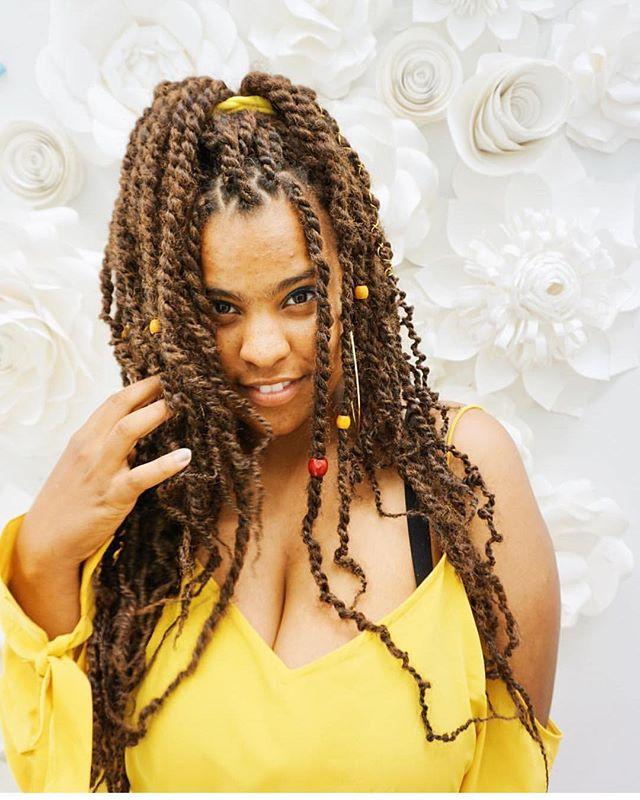 Pretty girls with dope spirits wear Marley twists 💛😍🌙🙌🏾lol!! #thegoddesslocsgirl #goddesslocs #