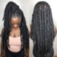 Boho Locs (done with a human/ synthetic