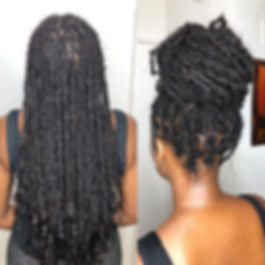 100% virgin hair goddess locs 😍. Client