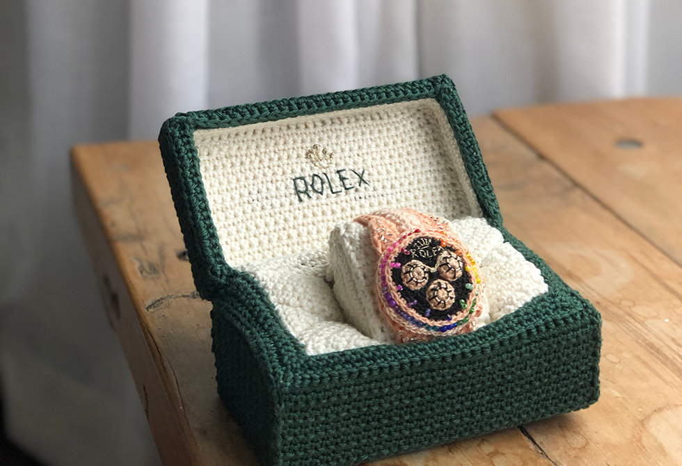 Pony McTate_Crochet Rolex_watch_curtain.