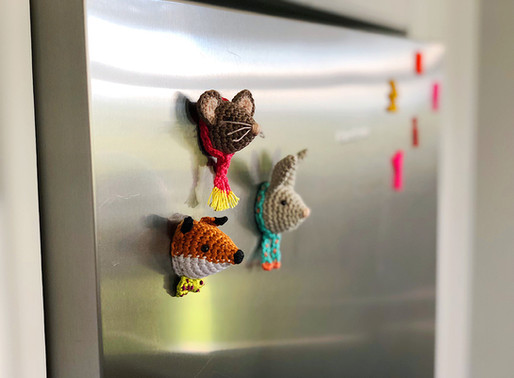 Cute animal magnets // free pattern