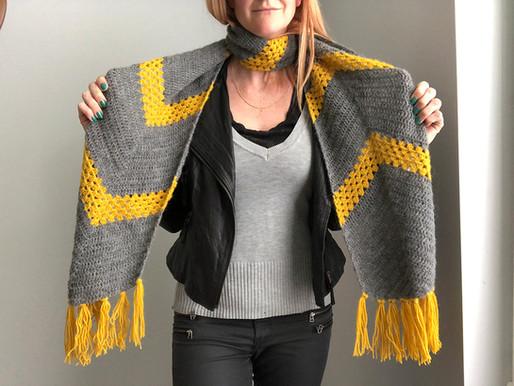 Speedbump scarf // free pattern