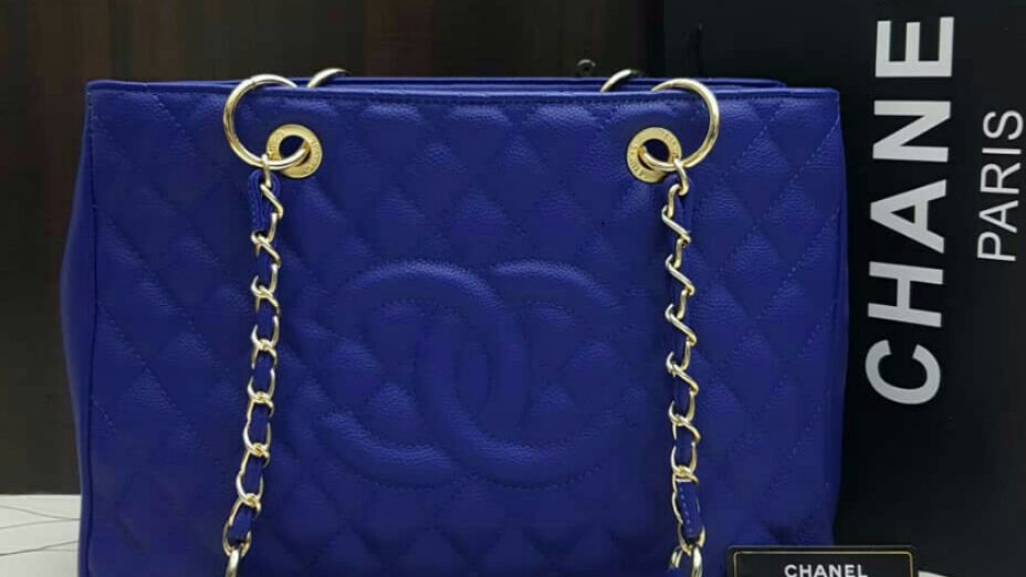 GST Tote Caviar Leather Royal Blue