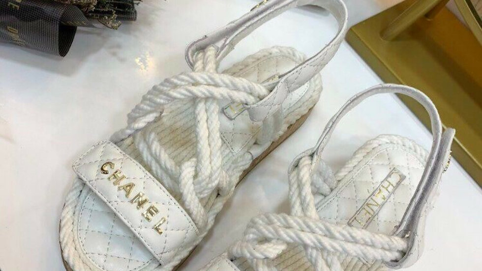 Chanel Cord sandals 38